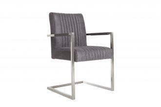 židle BIG ASTON GREY VINTAGE