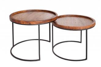 2SET odkládací stolek BLEND masiv akácie