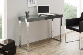 konzolový stůl DESK DARK GREY 120-40 CM