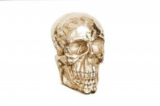 Nástěnná dekorace SKULL 40 CM zlatá