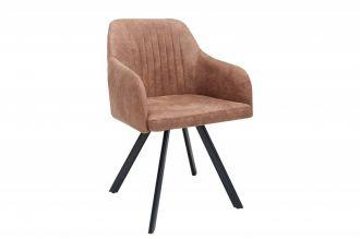 Jídelní židle LUCCA vintage hnědá