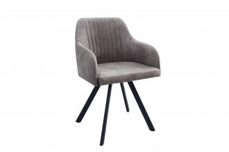 židle LUCCA DARK GREY