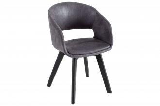 Židle NORDIC STAR antik šedá mikrovlákno