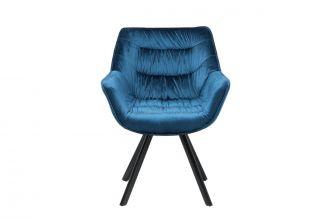 Židlo-křeslo DUTCH COMFORT modré samet