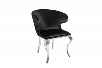 Židle MODERN BAROCCO II černá samet
