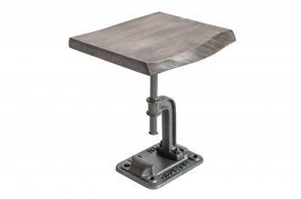 Odkládací stolek FACTORY 43 CM GREY masiv akácie