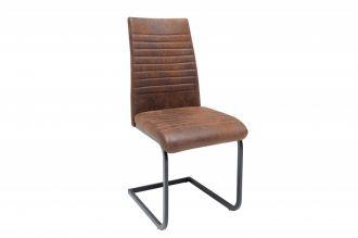 Jídelní židle LAZIO antik hnědá mikrovlákno