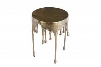 Designový odkládací stolek LIQUID LINE 51 CM GOLD