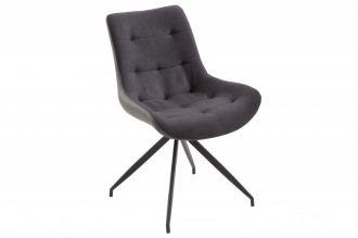 Židlo-křeslo DIVANI DARK GREY BLACK RETRO