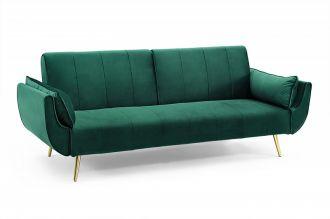 Pohovka DIVANI 215 CM smaragdově zelená rozkládací