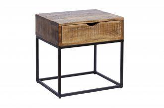 Noční/odkládací stolek IRON CRAFT 45 CM přírodní masiv mango