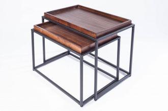 2SET odkládací-konferenční stolek ELEMENTS 60 CM buková dýha