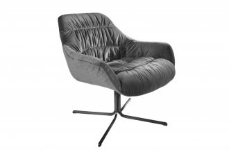 Židlo-křeslo BIG DUTCH GREY samet
