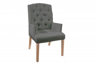 Židle CASTLE S PODRUČKAMI šedá strukturovaná látka