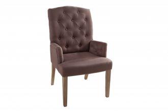 Židle CASTLE STRUKTUR ARMREST BROWN