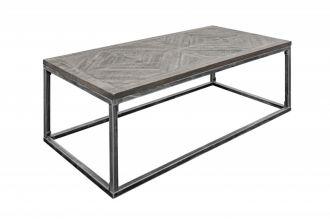 Konferenční stolek INFINITY HOME 100 CM GREY masiv mango
