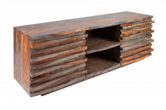 Televizní stolek RELIEF SMOKE 150 CM masiv sheesham