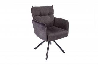 Židlo-křeslo BIG GEORGE antracitové otočné