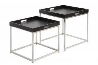 2SET odkládací stolek ELEMENTS černý