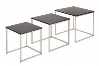 3SET konferenční stolek-odkládací FUSION BLACK