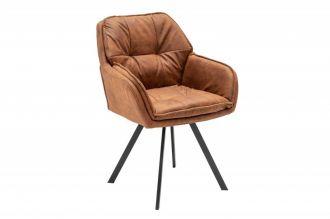 Jídelní židle LOUNGER světle hnědá otočná