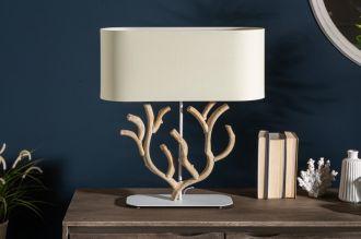 Stolní lampa KORALLE 58 CM béžová masiv bauhínie