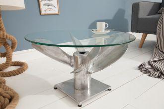 Konferenční stolek OCEAN 60 CM stříbrný