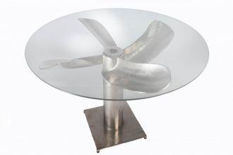 Jídelní stůl OCEAN 105 CM stříbrný