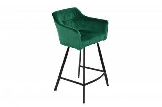 Barová židle LOFT 100 CM zelená samet