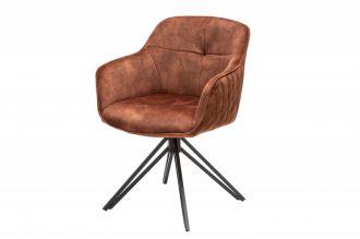 Židlo-křeslo EUPHORIA hnědé otočné