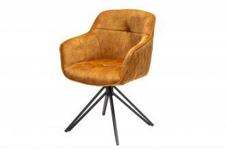 Židlo-křeslo EUPHORIA tmavě žluté otočné