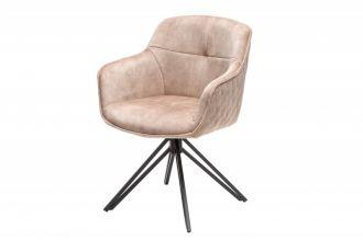 Židlo-křeslo EUPHORIA béžové otočné