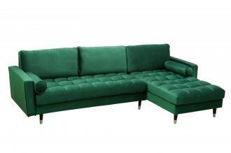 Sedací souprava COZY VELVET II 260 CM smaragdově zelená samet