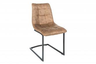 Jídelní židle MIAMI taupe hnědá mikrovlákno