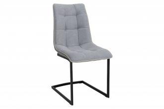 Jídelní židle MIAMI světle šedá plochá tkanina