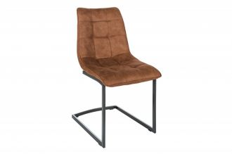 Jídelní židle MIAMI hnědá mikrovlákno