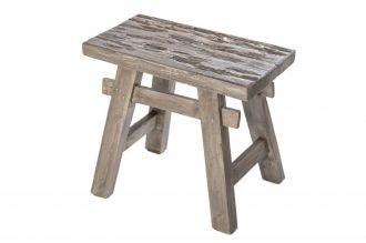 Stolička HEMINGWAY šedá masiv recyklované dřevo