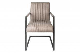 Židle BIG ASTON S PODRUČKAMI taupe mikrovlákno