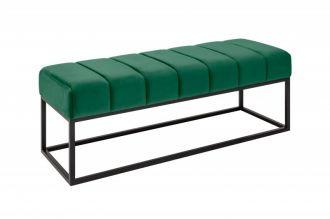 Lavice PETIT BEAUTE 110 CM smaragdově zelená samet