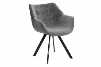 Židlo-křeslo DUTCH COMFORT tmavě šedé samet