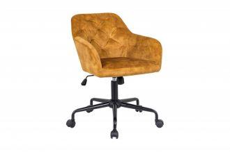 Pracovní židle DUTCH COMFORT tmavě žlutá samet