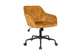 Pracovní židle TURIN tmavě žlutá samet