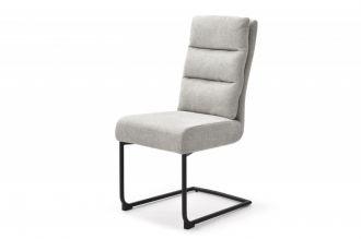 Konzolová židle COMFORT světle šedá strukturovaná látka