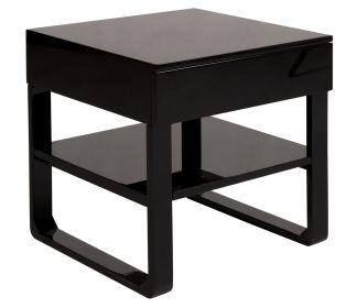 Noční stolek CORTES 50 CM černý
