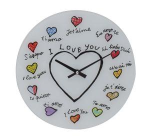 Nástěnné hodiny LOVE 57 CM