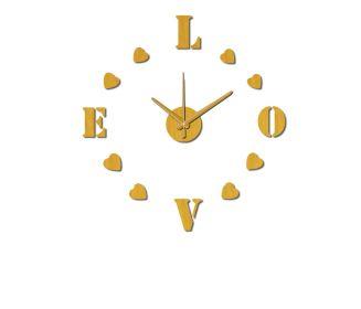 Nalepovací nástěnné hodiny LOVE 60 CM