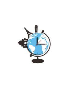 Nalepovací nástěnné hodiny WORLD 48 CM