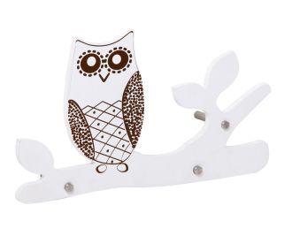 Nástěnný věšák OWL 40 CM