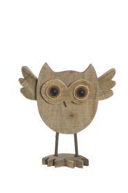 Soška WOODEN OWL 22 CM