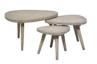 3SET odkládací stolek IBIZA 80/60/45 CM